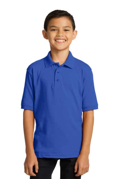 Youth Core Blend Jersey Knit Polo